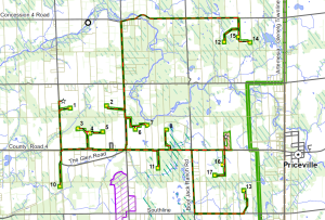 west grey wind turbine placement map