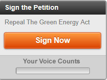Take Action - Repeal The Green Energy Act
