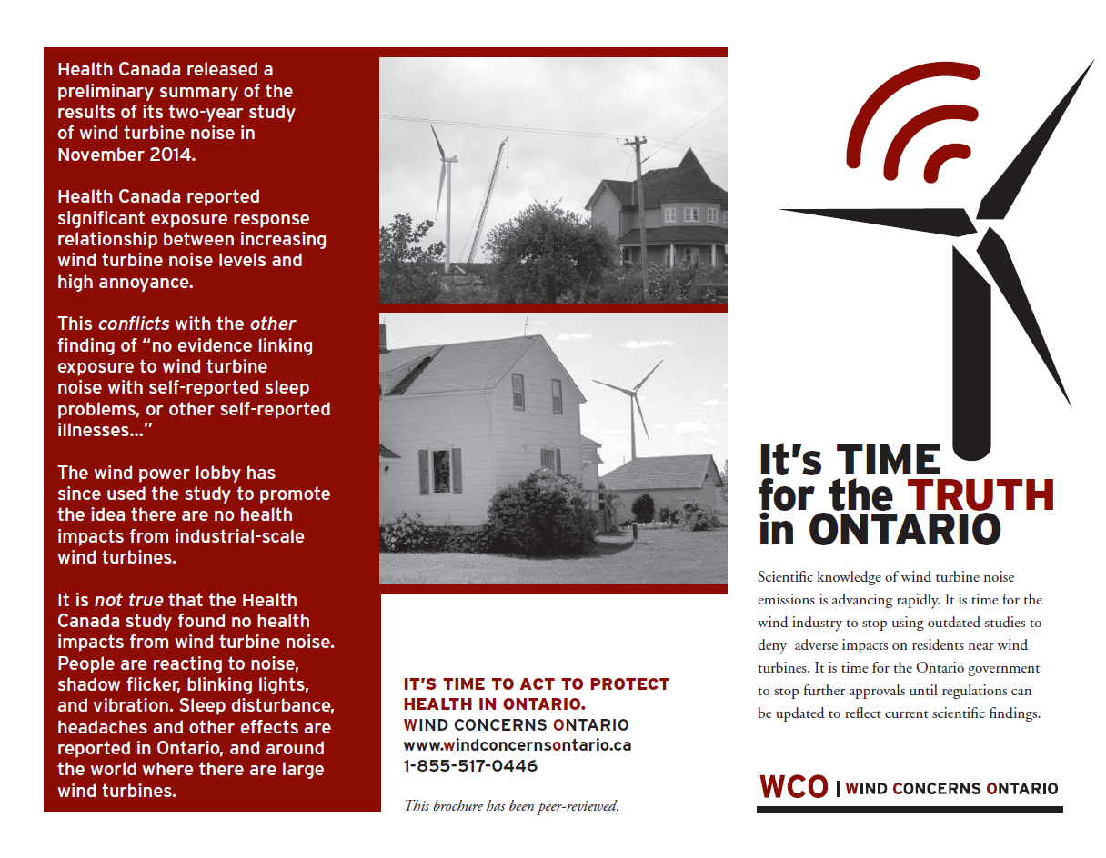 Wind Concerns Ontario Time For The Truth Ontario